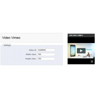Модуль Видео Vimeo для Prestashop