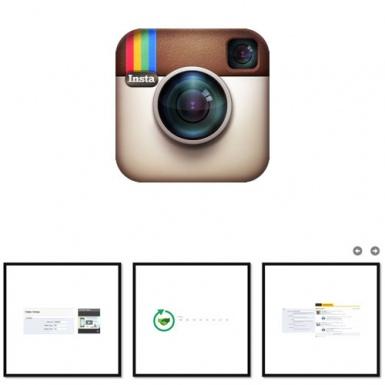 Instagram images carousel