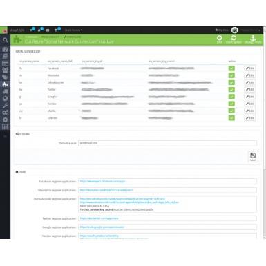 Регистрация и авторизация через социальные сети для PrestaShop 1.6