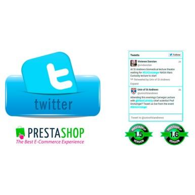 Твиттер виджет для Prestashop