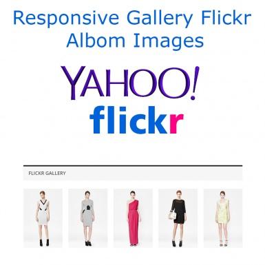 Адаптивная галерея изображений Flickr альбома