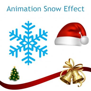 Анимация падающих снежинок